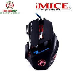 Chuột Chơi Game Mouse iMICE X7 Gaming Dây dù Led 7 màu - VN-0000842