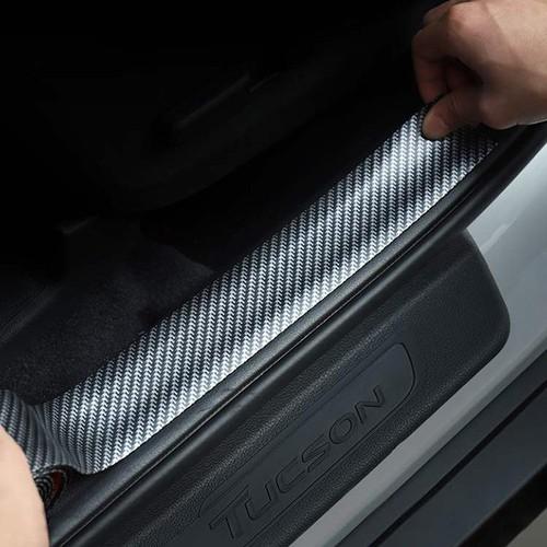 Miếng dán chống xước cốp xe và bậc lên xuống vân carbon [bản 5 cm]