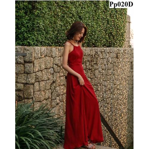 Đầm maxi cổ yếm pp020
