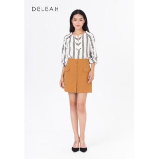 De Leah - Chân Váy Mini Cúc Trước - Thời trang thiết kế - Z1831051Vn thumbnail