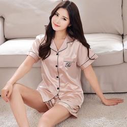 Đồ bộ mặc nhà Nữ ngắn chất liệu mềm mại thoải mái sang chảnh-205
