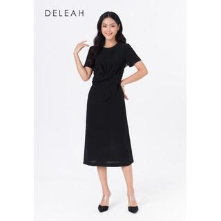 De Leah - Đầm Suông Xoắn Eo Nơ - Thời trang thiết kế - VL1922021Dd thumbnail
