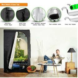 Lều trồng cây 100*100*200 cm, Nhà trồng nấm, Lều vải 600D phản quang, Grow tent