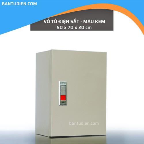 Vỏ tủ điện sắt màu kem 50x70x20 cm