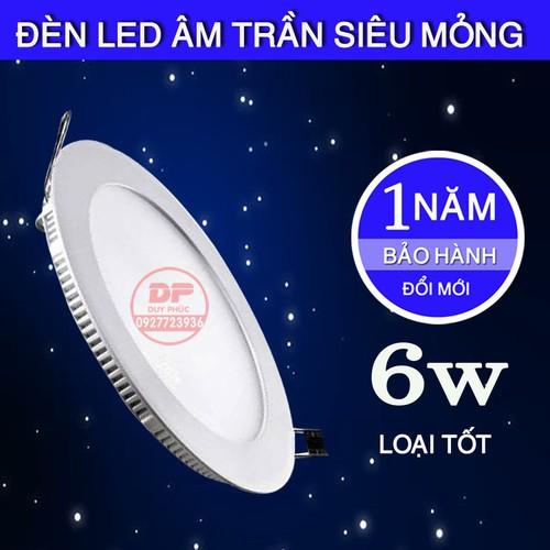 Đèn led âm trần siêu mỏng 6w - loại tốt