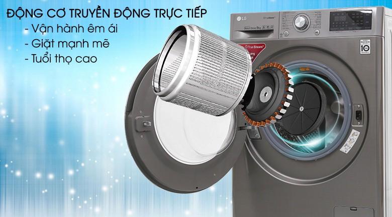 Động cơ truyền động trực tiếp - Máy giặt LG inverter 9 kg FC1409S2E