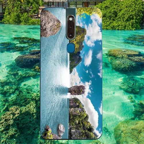 Ốp điện thoại kính cường lực cho máy oppo f11 pro - vịnh hạ long ms halong012