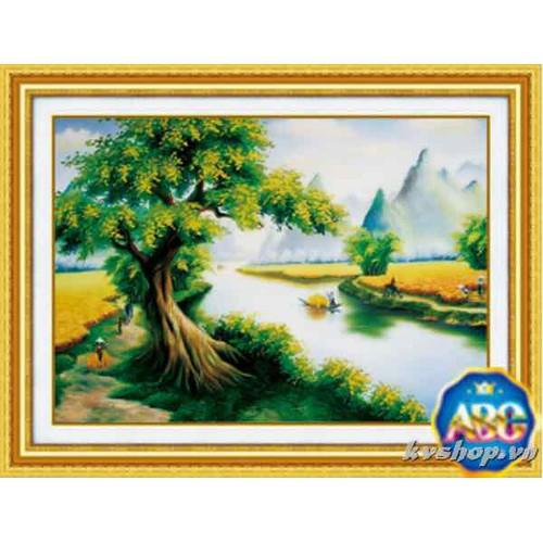 tranh đính đá phong cảnh Cánh đồng bội thu - 10598531 , 20196233 , 15_20196233 , 163000 , tranh-dinh-da-phong-canh-Canh-dong-boi-thu-15_20196233 , sendo.vn , tranh đính đá phong cảnh Cánh đồng bội thu