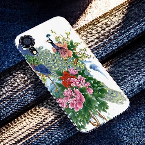 Ốp điện thoại kính cường lực cho máy iphone x - xs - chim công phượng ms cphuong061