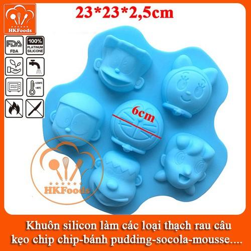Khuôn silicon làm các loại thạch rau câu,kẹo, bánh pudding, socola, mousse - hình bộ nhận vật doraemon - 12274160 , 20172569 , 15_20172569 , 65000 , Khuon-silicon-lam-cac-loai-thach-rau-caukeo-banh-pudding-socola-mousse-hinh-bo-nhan-vat-doraemon-15_20172569 , sendo.vn , Khuôn silicon làm các loại thạch rau câu,kẹo, bánh pudding, socola, mousse - hình bộ