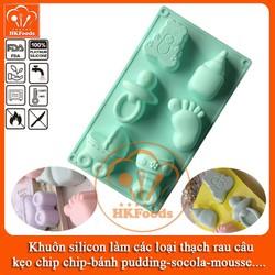 Khuôn silicon làm các loại thạch rau câu,kẹo, bánh pudding, socola, mousse - Hình 6 Phụ Kiện Cho Bé