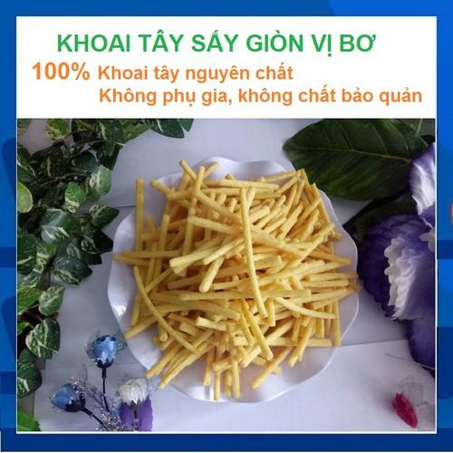 [Giá siêu rẻ] combo 2 túi-đặc sản đà lạt-khoai tây-sấy giòn-vị bơ-1kg