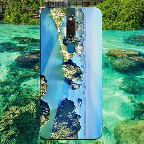 Ốp điện thoại kính cường lực cho máy oppo f11 pro - vịnh hạ long ms halong001