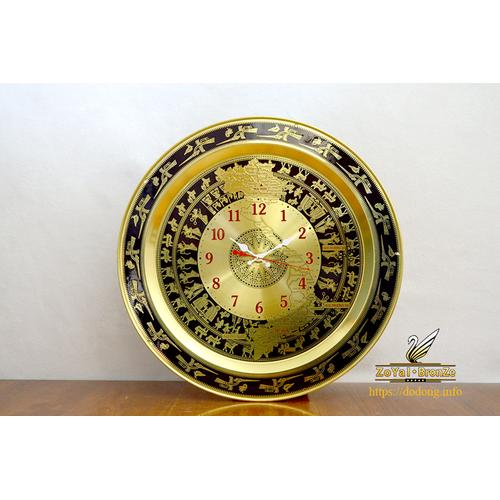 Đồng hồ treo tường trống đồng + đất nước  việt nam dk40