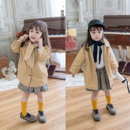 Áo khoác gió thời trang thu đông cho bé gái