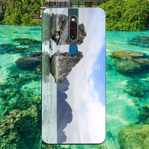 Ốp điện thoại kính cường lực cho máy oppo f11 pro - vịnh hạ long ms halong014