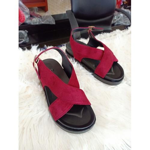 Giày sandal nữ đế bánh mì | đỏ - 12392760 , 20173830 , 15_20173830 , 100000 , Giay-sandal-nu-de-banh-mi-do-15_20173830 , sendo.vn , Giày sandal nữ đế bánh mì | đỏ