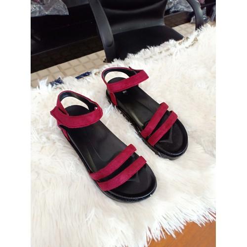 Giày sandal nữ đế bánh mì | đỏ - 12392793 , 20173865 , 15_20173865 , 100000 , Giay-sandal-nu-de-banh-mi-do-15_20173865 , sendo.vn , Giày sandal nữ đế bánh mì | đỏ