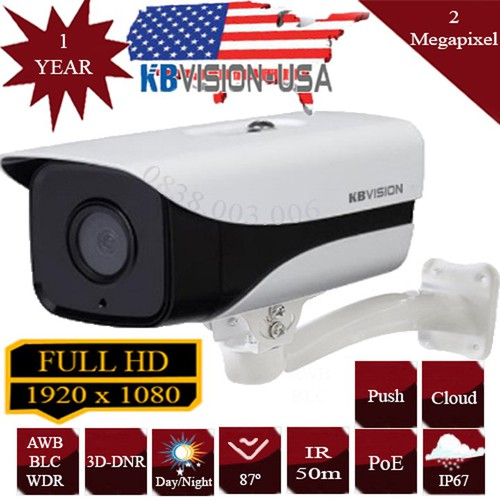 Camera ip full hd kbvision kx-2003n2 - 12406275 , 20192280 , 15_20192280 , 3280000 , Camera-ip-full-hd-kbvision-kx-2003n2-15_20192280 , sendo.vn , Camera ip full hd kbvision kx-2003n2
