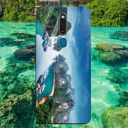 Ốp kính cường lực cho điện thoại oppo f11 pro - vịnh hạ long ms halong002