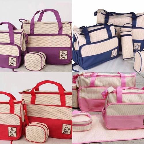 Bộ túi 5 chi tiết tiện dụng và thời trang cho mẹ và bé - 12399045 , 20182219 , 15_20182219 , 215000 , Bo-tui-5-chi-tiet-tien-dung-va-thoi-trang-cho-me-va-be-15_20182219 , sendo.vn , Bộ túi 5 chi tiết tiện dụng và thời trang cho mẹ và bé