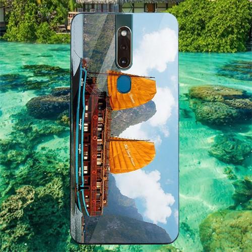 Ốp điện thoại kính cường lực cho máy oppo f11 pro - vịnh hạ long ms halong011