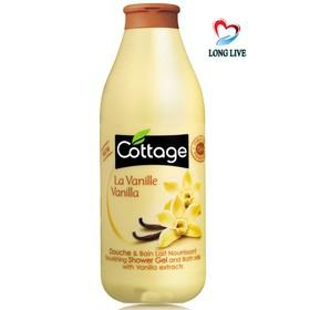 Sữa tắm Cottage hương La Vanille nhập khẩu Pháp 750ml - dtcottagevang