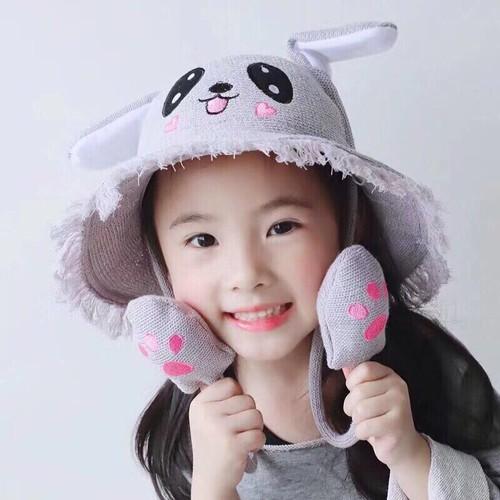 Mũ tai thỏ giật giật vẫy tay cho bé yêu nón tai thỏ cói vẫy tai