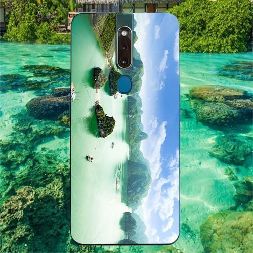 Ốp kính cường lực cho điện thoại oppo f11 pro - vịnh hạ long ms halong006