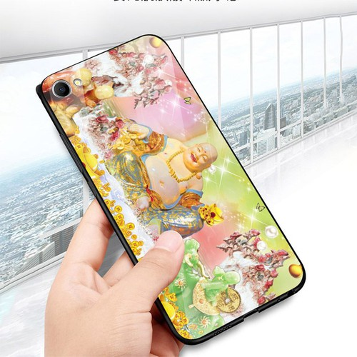 Ốp kính cường lực cho điện thoại Oppo A83 - A1 - thần tài kim MS TTKIM065