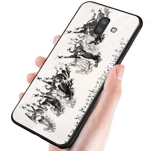 Ốp điện thoại kính cường lực cho máy Samsung Galaxy A5 2018 - A8 2018 - mã đáo thành công MS MDTC088