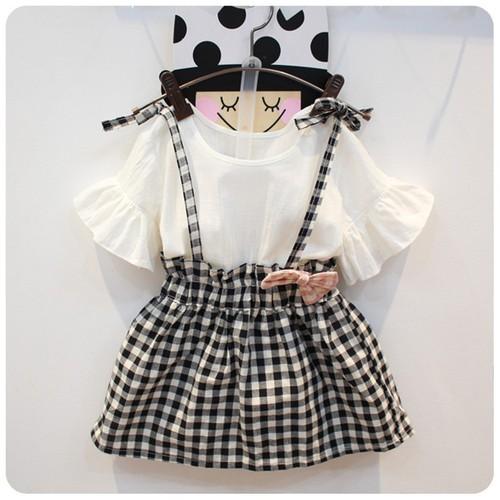 Sét váy sọc thời trang xinh xắn cho bé gái