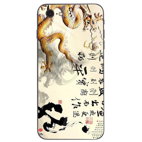Ốp điện thoại kính cường lực cho máy iphone 7  -  8 - long phượng ms lphuong048
