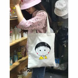 Túi vải canvas túi tote hình Maruko
