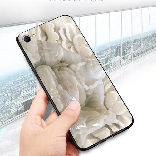 Ốp điện thoại kính cường lực cho máy Oppo A83 - A1 - thần tài kim MS TTKIM063