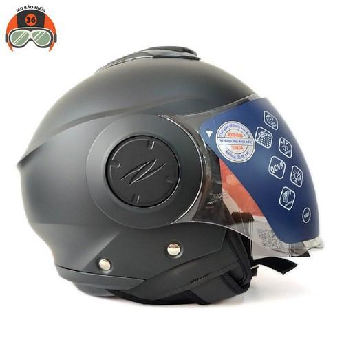 Mũ bảo hiểm sunda 227 -đen nhám