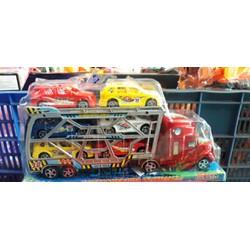 Đồ chơi trẻ em mô hình xe cont chở xe _sỉ35k