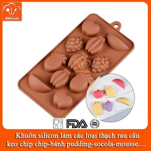Khuôn silicon làm các loại thạch rau câu,kẹo, bánh pudding, socola, mousse - Hình Hoa Quả Sạch - 10645031 , 20172846 , 15_20172846 , 45000 , Khuon-silicon-lam-cac-loai-thach-rau-caukeo-banh-pudding-socola-mousse-Hinh-Hoa-Qua-Sach-15_20172846 , sendo.vn , Khuôn silicon làm các loại thạch rau câu,kẹo, bánh pudding, socola, mousse - Hình Hoa Quả Sạ