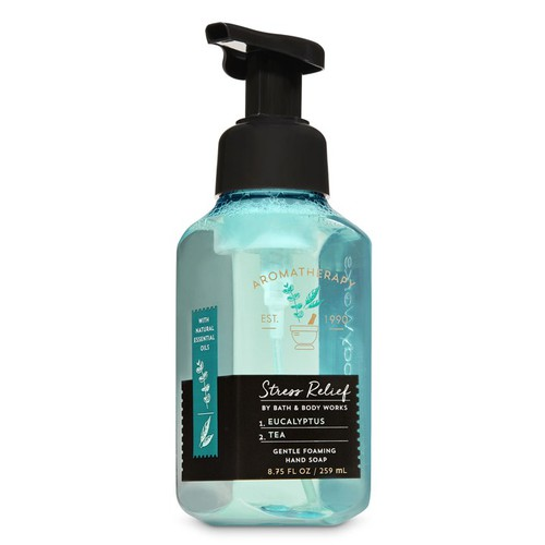 Rửa tay bath & body works - stress relief eucalyptus tea, 259ml