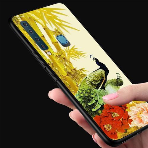 Ốp điện thoại kính cường lực cho máy Samsung Galaxy M20 - chim công phượng MS CPHUONG095