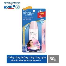 Gel chống nắng dưỡng da trắng mượt Sunplay Skin Aqua Silky White Gel SPF 50 PA+++ 30g - RMV-SSA17-SWG