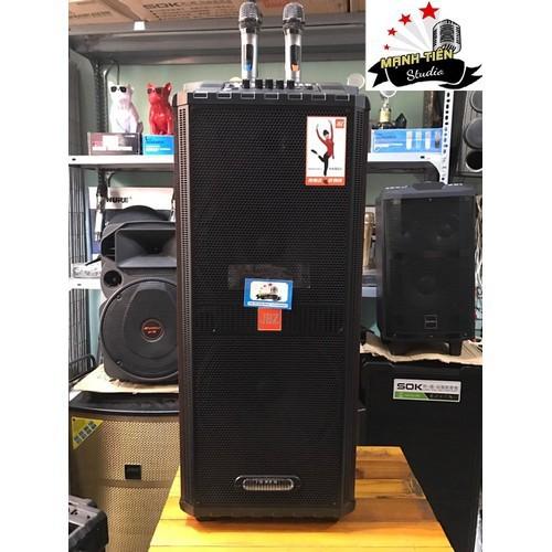 Loa kéo karaoke di động jbz jb+1212 loa kéo bluetooth mini hát karaoke gia đình âm thanh cực hay + tặng 2 micro