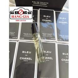 BILL PHÁP -NƯỚC HOA NAM MINI BLEU DE CHANEL 20ML - CHÍNH HÃNG BAO TEST