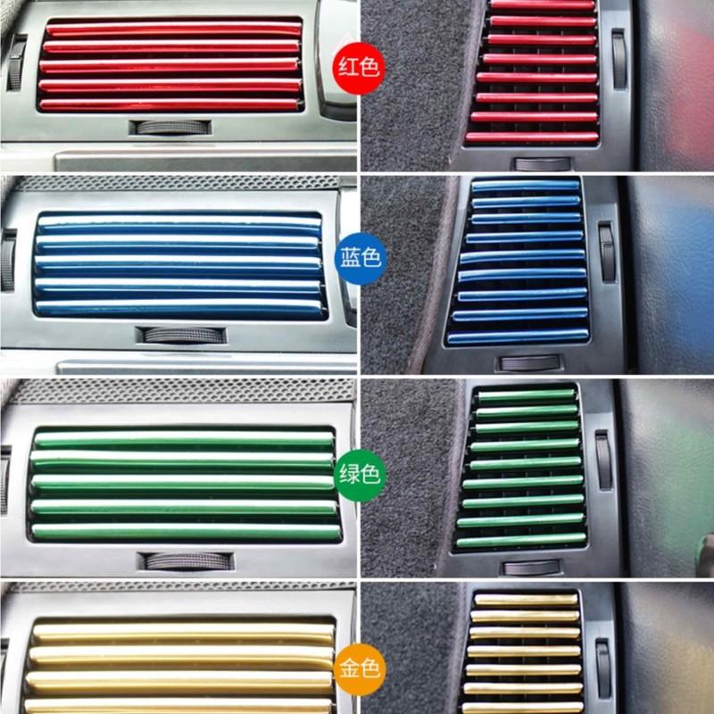 Nẹp Viền trang Trí Khe Máy Lạnh Ô Tô – bộ 10 thanh 20cm – NTTTK009