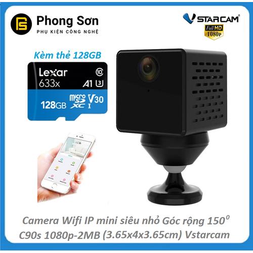 Camera trong nhà wifi mini , siêu nhỏ 3.65x4.0x3.65 cm , c90s 1080p fhd 2mb góc rộng 150 độ  vstarcam, kèm thẻ 128gb - 12417405 , 20206976 , 15_20206976 , 1750000 , Camera-trong-nha-wifi-mini-sieu-nho-3.65x4.0x3.65-cm-c90s-1080p-fhd-2mb-goc-rong-150-do-vstarcam-kem-the-128gb-15_20206976 , sendo.vn , Camera trong nhà wifi mini , siêu nhỏ 3.65x4.0x3.65 cm , c90s 1080p