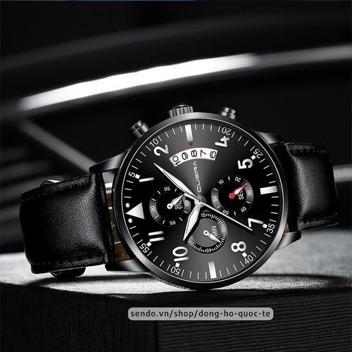Đồng hồ nam cuena japan đẳng cấp doanh nhân bền bỉ viền thép siêu mỏng can06