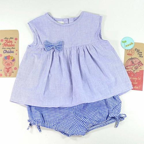 Đồ bộ bé gái|bộ cotton bé gái|bộ form xòe quần bí