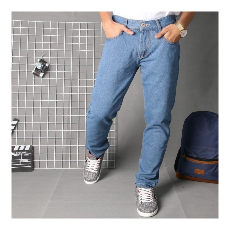 Quần jean nam BM62, vải đẹp bán shop Black Moon chuyên quần bò nam – BM62.