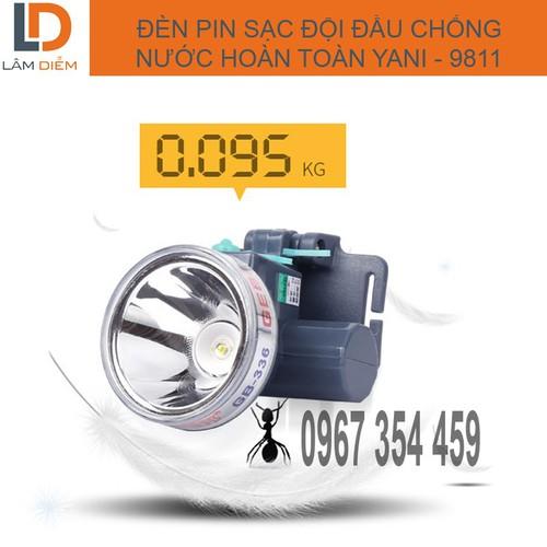 Đèn  đội đầu pin sạc chống nước hoàn toàn  YANI-9811