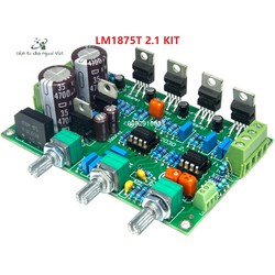 Bộ KIT tự lắp mạch khuếch đại âm thanh Ampli LM1875 2.1 chất lượng cao